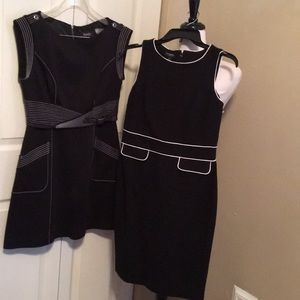 2 black and white professional dresses